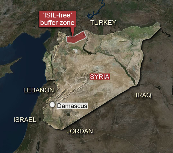 Turkey And The US Plan ISILfree Buffer Zone In Northern Syria - Where is syria and turkey