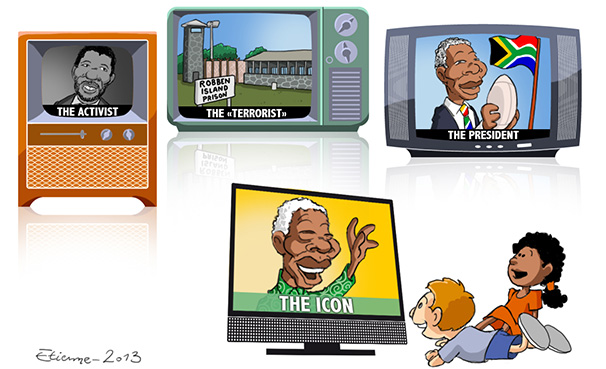 Nelson Mandela by our cartoonist Etienne Barthomeuf